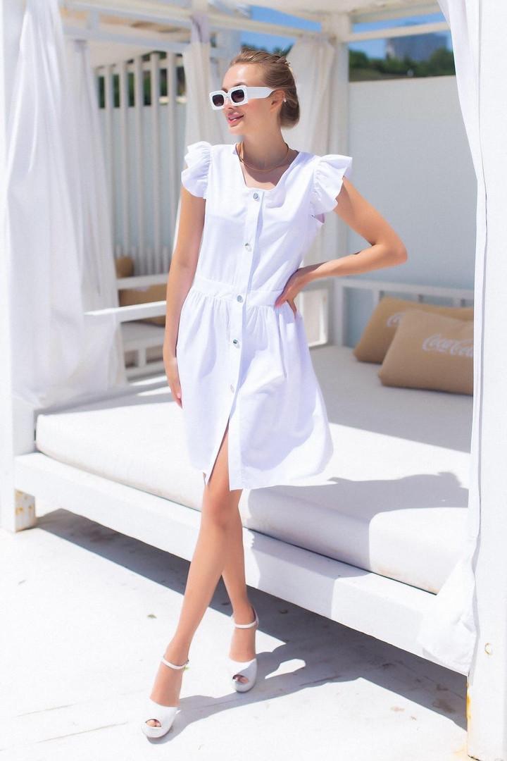 Жіноча біла літня сукня, 42-44