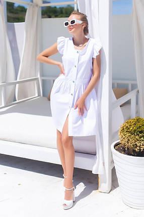 Жіноча біла літня сукня, 42-44, фото 2