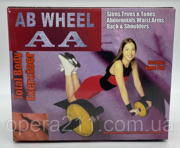 Фитнес колесо (двойное) / AB Rolling Wheel (2 Wheels) / ART-0438 (30шт)