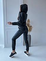 Жіночий спортивний шкіряний костюм, 42-44, фото 3
