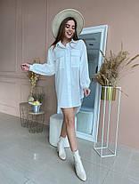 Жіноча подовжена біла сорочка, 42-46, фото 2
