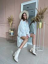 Жіноча подовжена біла сорочка, 42-46, фото 3