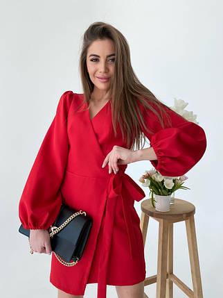 Жіноча коротка червона сукня, 42-44, фото 2