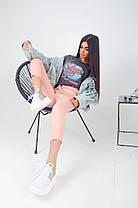Жіночі укорочені брюки з поясом, 42-44, фото 2