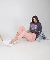 Жіночі укорочені брюки з поясом, 42-44, фото 3