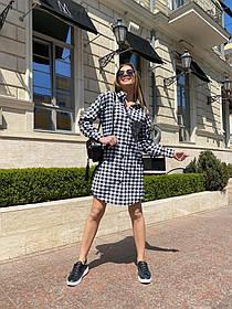 Жіноча сукня-сорочка в клітинку, 42-46