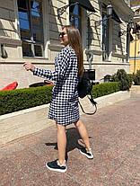 Жіноча сукня-сорочка в клітинку, 42-46, фото 3