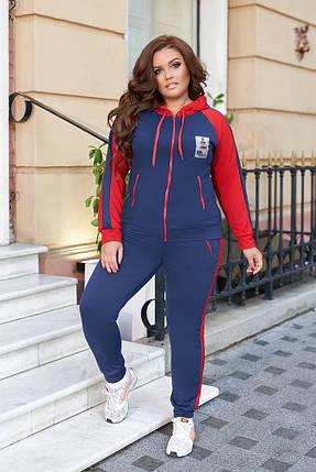 Жіночий зручний спортивний костюм батал, 48-50, фото 2