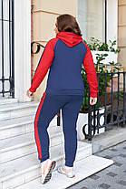 Жіночий зручний спортивний костюм батал, 48-50, фото 3