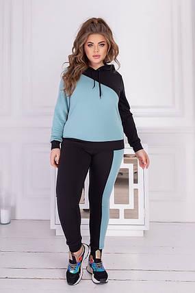 Жіночий трикотажний спортивний костюм батал, 48-50, фото 2