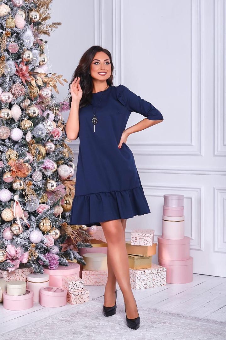 Жіноча вільна сукня батал, 50-52