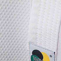 Кимоно Budo-Nord AGOYA WKF APPROVED slimfit 170 см White M, фото 2