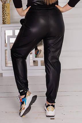 Жіночі чорні шкіряні брюки, 50-52, фото 2