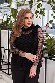 Жіноча святкова блуза батал, 48-52