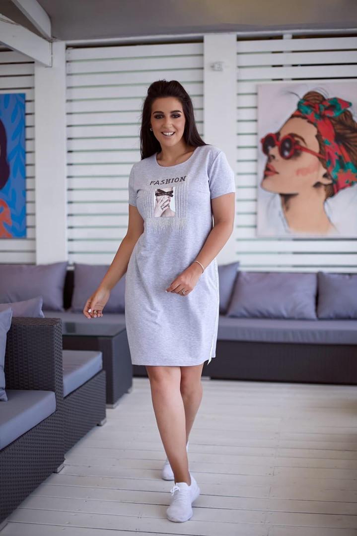 Жіноча повсякденна сукня батал, 48-50