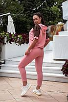 Жіночий літній спортивний костюм зі стразами, 48-50, фото 2