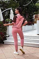 Жіночий літній спортивний костюм зі стразами, 48-50, фото 3