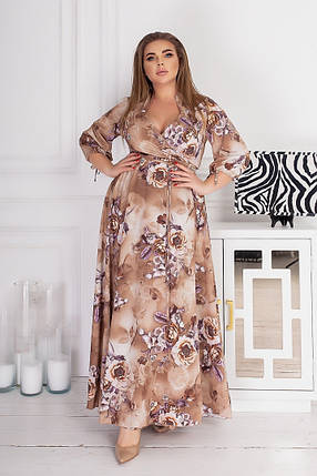 Жіноча довга сукня батал, 48-52, фото 2