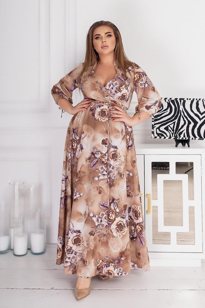 Жіноча довга сукня батал, 48-52