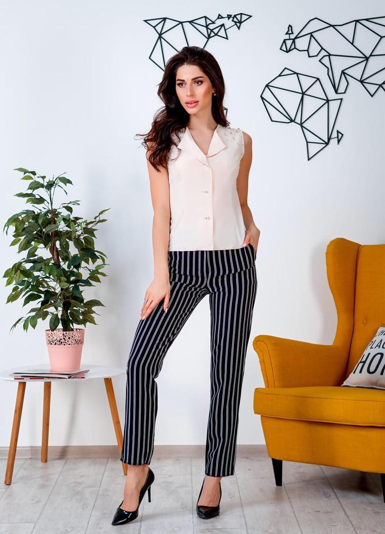 Жіночий костюм блузка + штани, 42