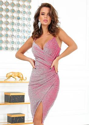 Жіноча вечірня блискуча сукня, 46, фото 2