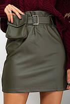 Жіноча шкіряна спідниця, 40, фото 2