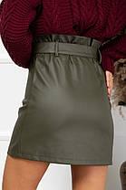 Жіноча шкіряна спідниця, 40, фото 3