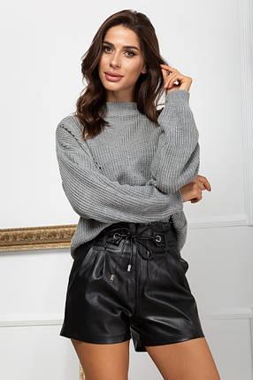 Жіночі шкіряні шорти, 44, фото 2
