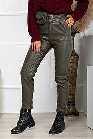 Жіночі шкіряні брюки, 40