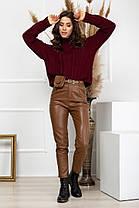 Жіночі шкіряні штани, 40, фото 2