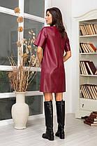 Жіноча шкіряна сукня, 42, фото 3