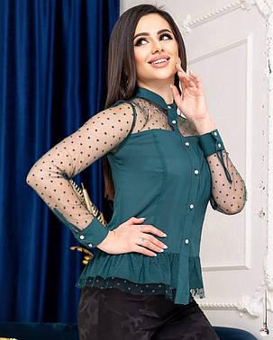 Жіноча сорочка з сіточкою, 42, фото 2