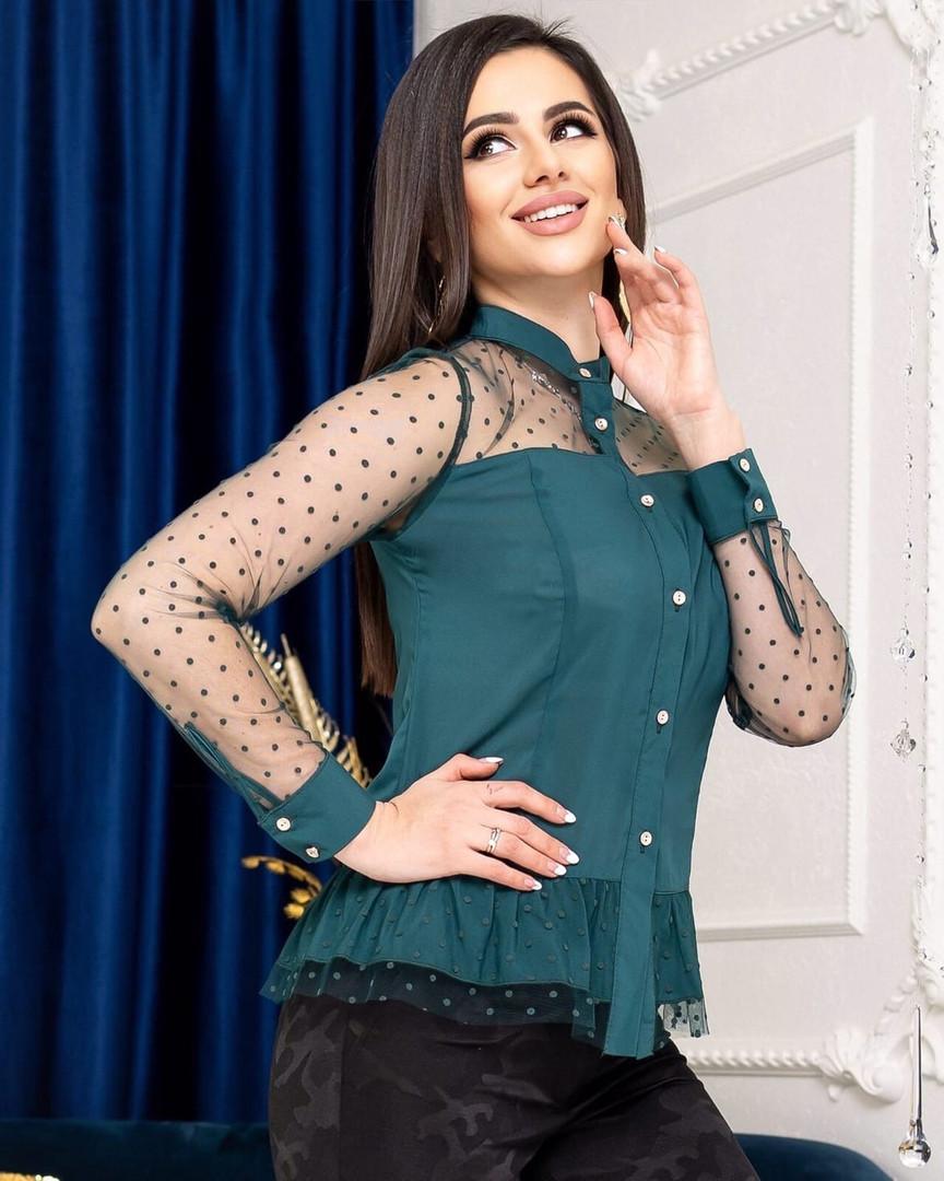 Жіноча сорочка з сіточкою, 42