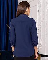 Жіноча синя сорочка, 42, фото 3
