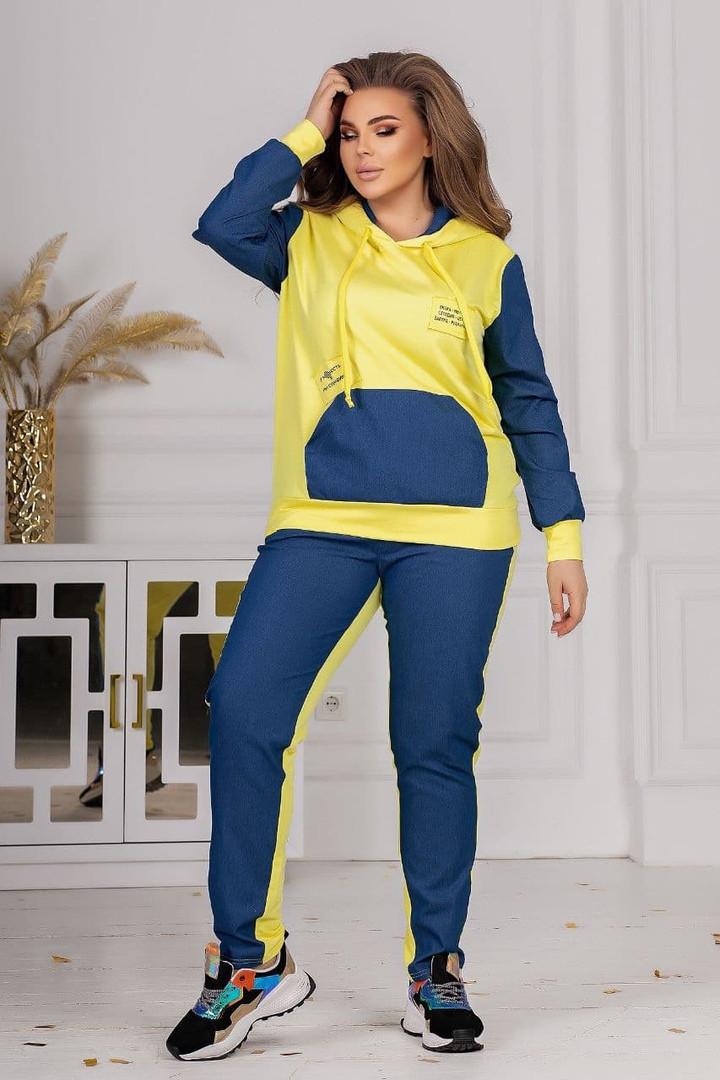 Жіночий спортивний костюм батал, 48-50
