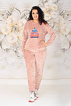 Жіночий велюровий костюм батал, 48-50, фото 2