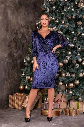 Жіноча велюрова сукня батал, 48, фото 2