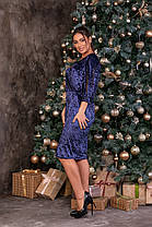 Жіноча велюрова сукня батал, 48, фото 3