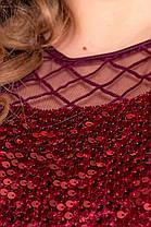 Жіноча блискуча сукня батал, 48, фото 2