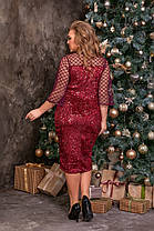 Жіноча блискуча сукня батал, 48, фото 3