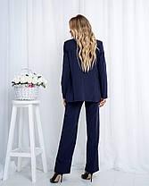 Жіночий синій брючний костюм, 44, фото 3