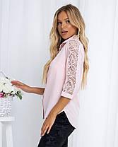 Жіноча рожева блуза, 42, фото 2