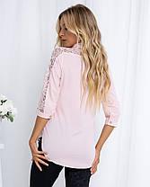 Жіноча рожева блуза, 42, фото 3