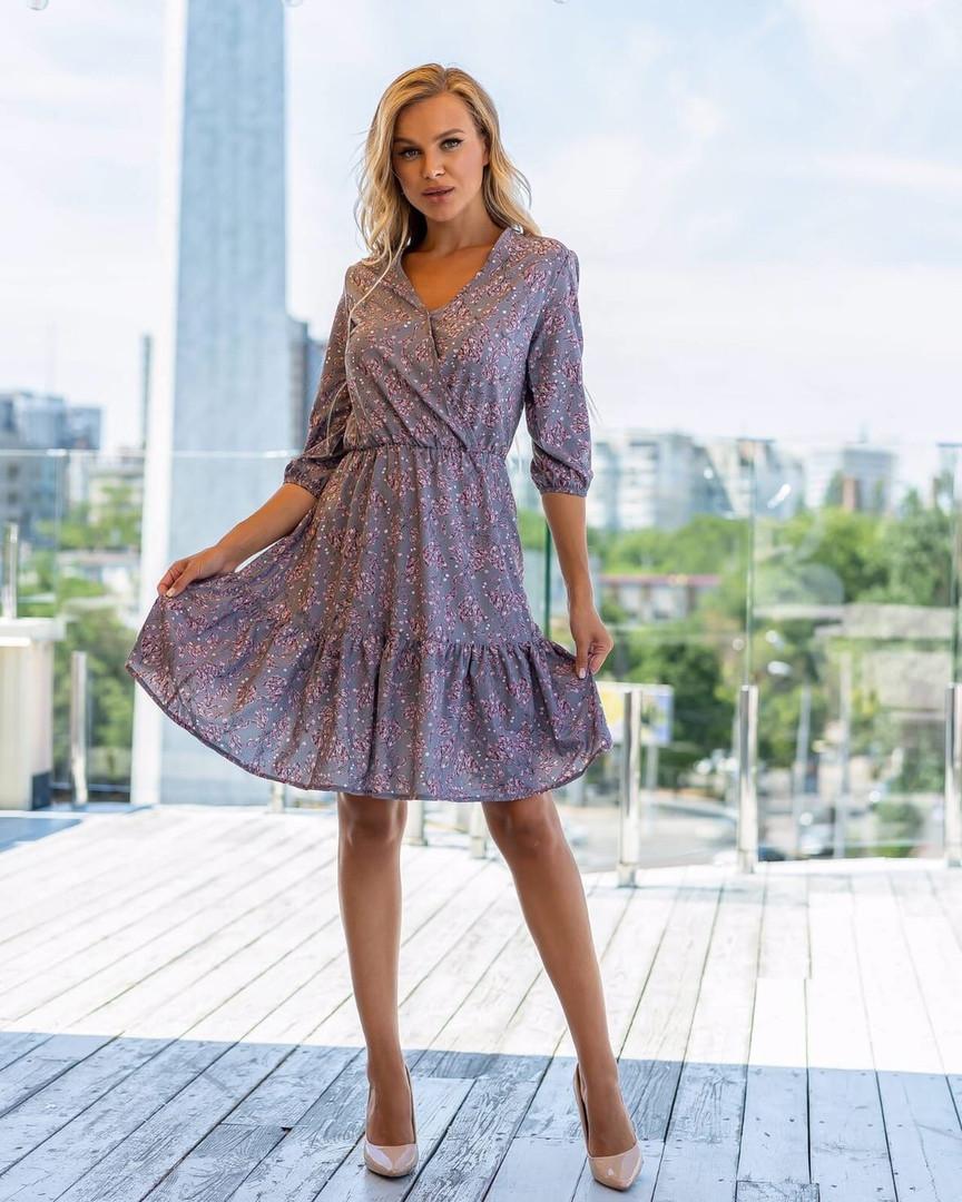 Жіноча літня сукня в квіточку, 42