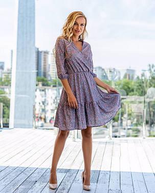 Жіноча літня сукня в квіточку, 42, фото 2