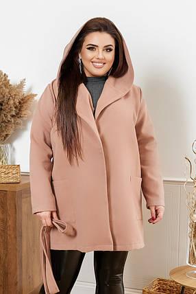 Жіноче коротке пальто батал, 48-50, фото 2