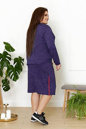 Жіночий теплий костюм зі спідницею, 48-50, фото 2
