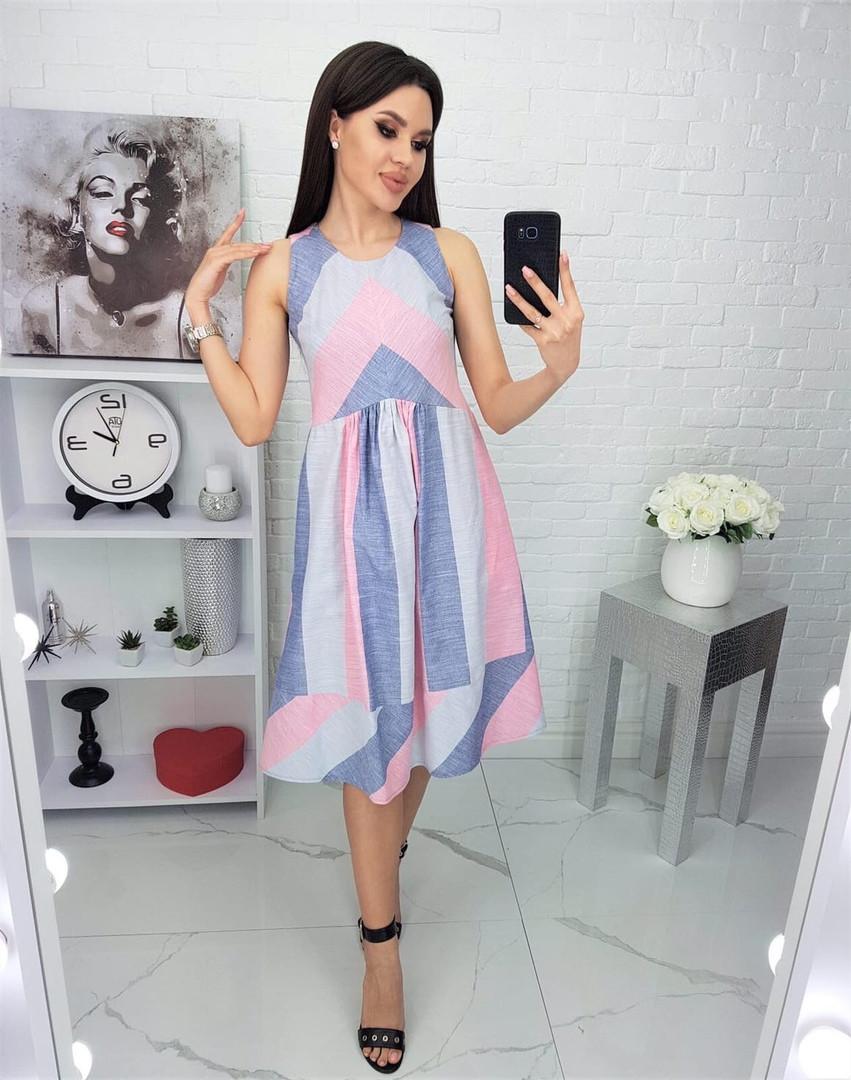 Жіноча літня сукня з льону, 48