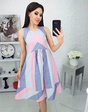 Жіноча літня сукня з льону, 48, фото 2