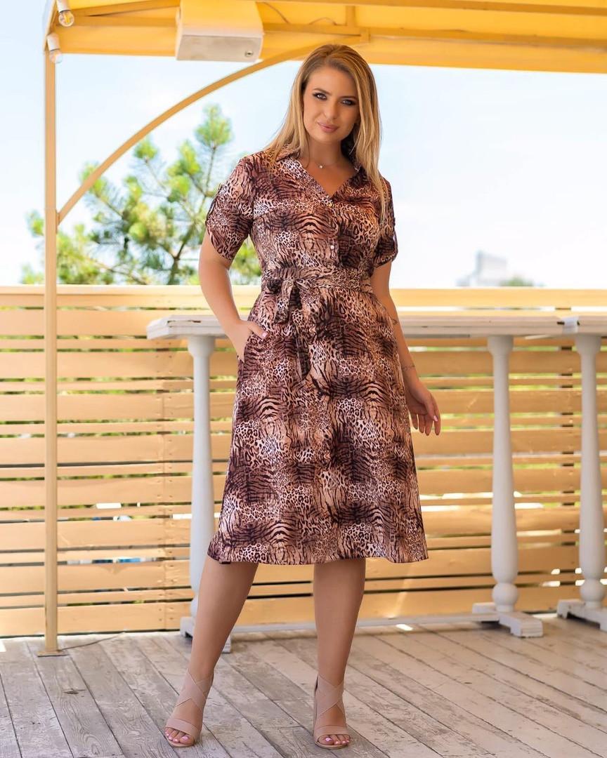 Жіноча літня сукня з принтом, 46